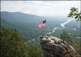 Flag on Chimney Rock