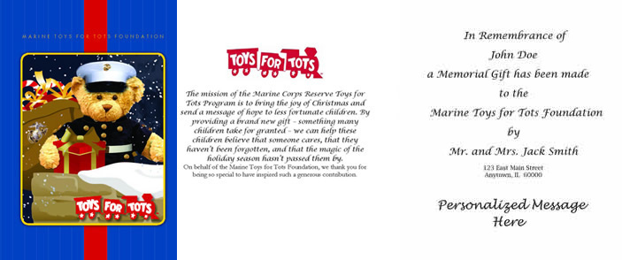 Marine Toys 4 Tots Foundation : Marine toys for tots foundation donate